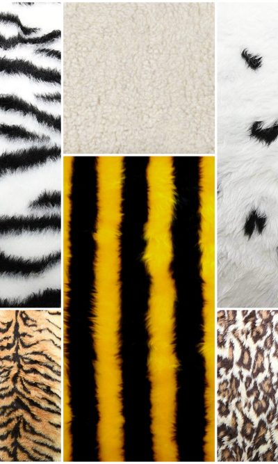 ANIMAL SKIN PRINTED FAUX FUR