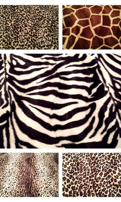 ANIMAL SKIN PRINTED VELBOA PONY SKIN