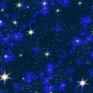 Blue Galaxy In Space