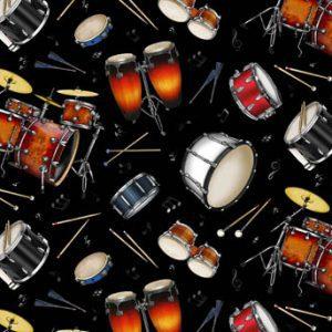 Black - Tossed Drums