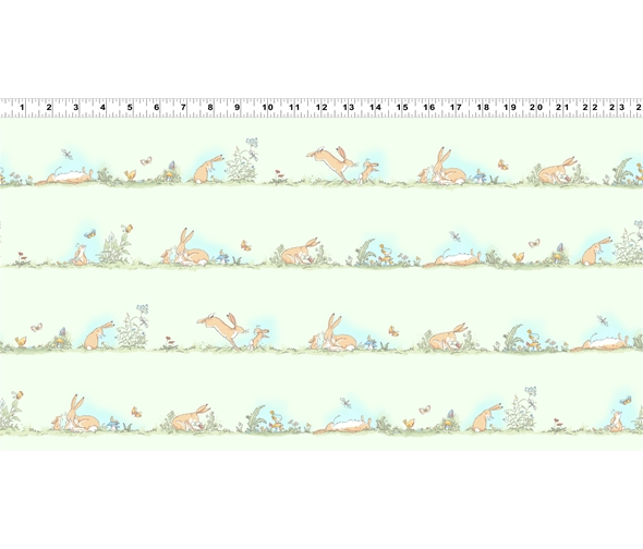 Green Border Stripe by Anita jeram