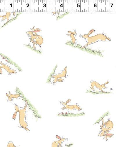 White hopping bunny by Anita jeram
