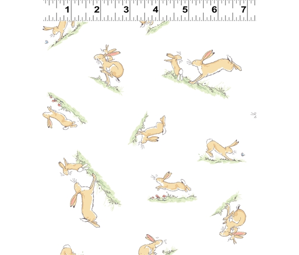 White hopping bunny by Anita jeram