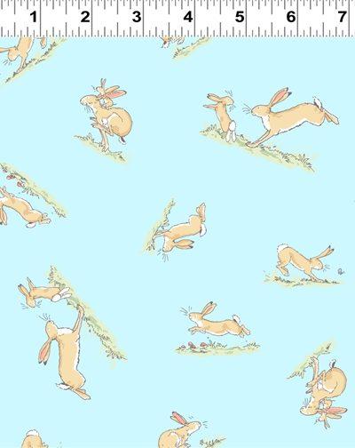 blue hopping bunny by Anita jeram