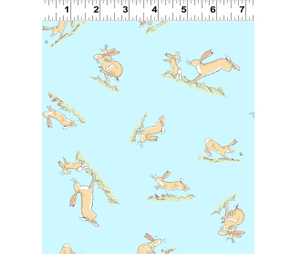 blue hopping bunny by Anita jeram