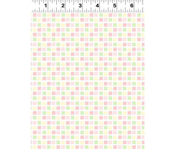 squares pink by Anita jeram