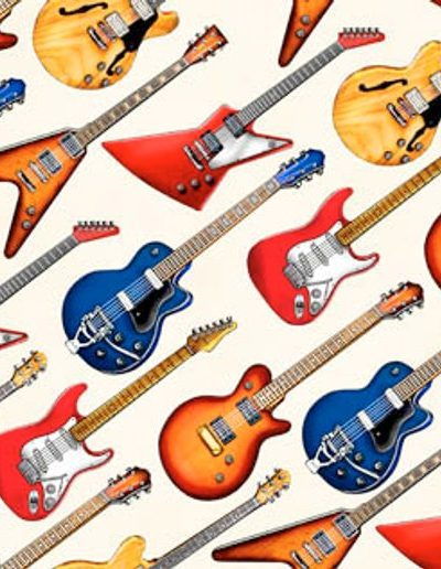 Cream - Electric Guitar Fabric