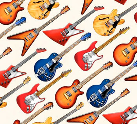 Cream - Electric Guitar Fabric