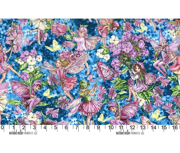 Michael Miller fabric with fairies whisper