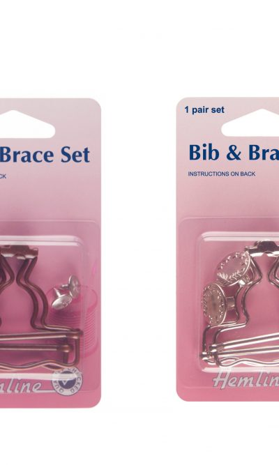 Hemline Bib and Brace Set Nickel