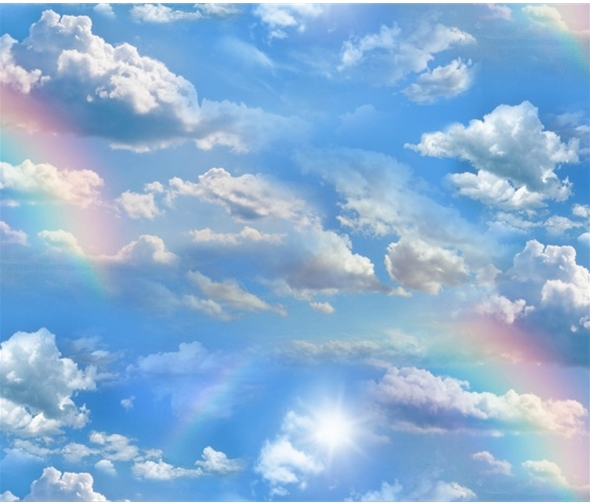 Blue Sky Clouds & Rainbows - Landscape Medley