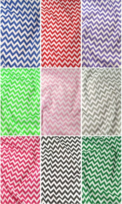 6mm Chevron Polycotton Fabric Zig Zag