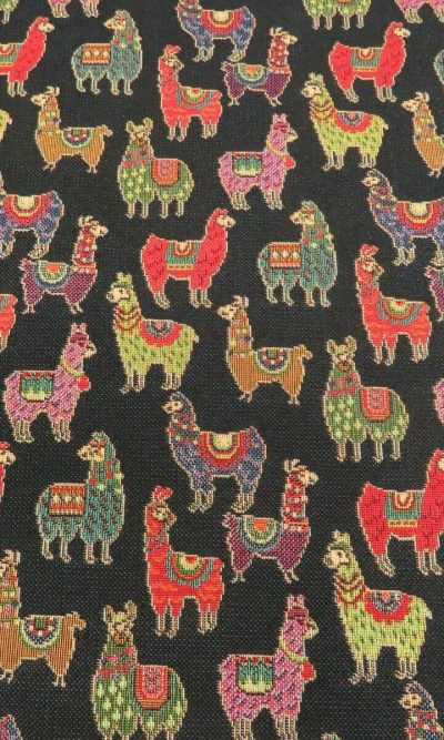 Designer Heavyweight Woven black lama Tapestry Fabric