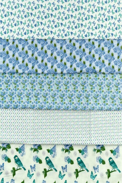 small-butterflies-and-roses-teal-blue-green-fabric-freedom-birds-and-butterflies-roses-floral-leaves-100-cotton-fabric