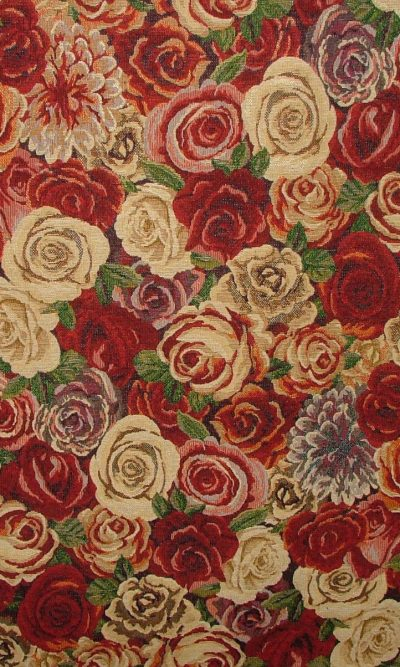 Designer Heavyweight Woven Floral Tapestry Fabric