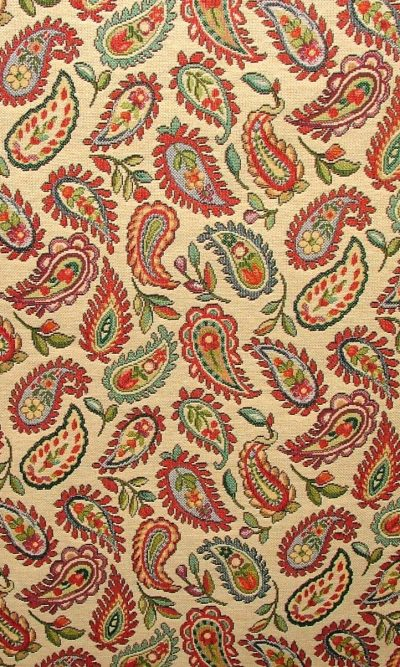 Designer Heavyweight Woven Paisley Tapestry Fabric