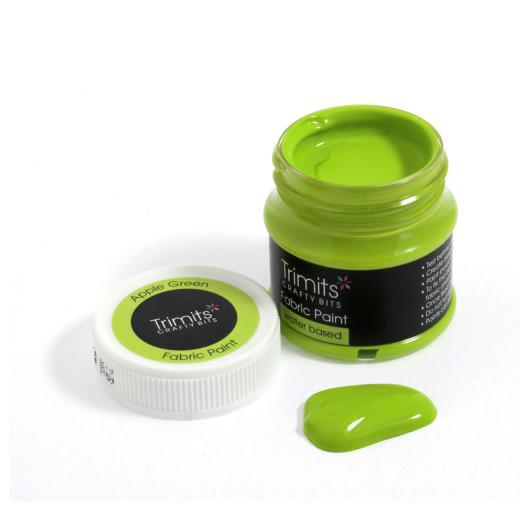 apple-green-trimits-50ml-fabric-paint-pots-green-shades