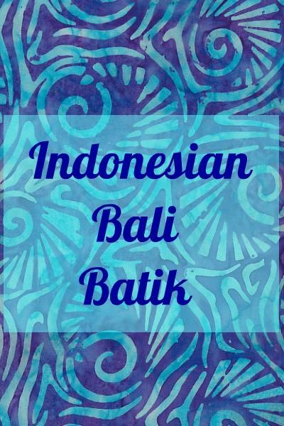 INDONESIAN BALI BATIK 100% COTTON