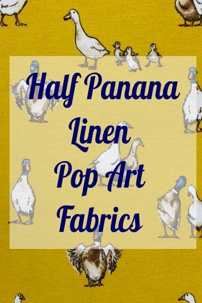 Linen / Half Panama / Pop Art Fabrics