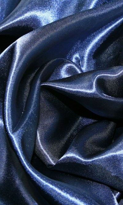 "Navy Silky Satin Fabric Dress Making Material Lining 150cm/60"""