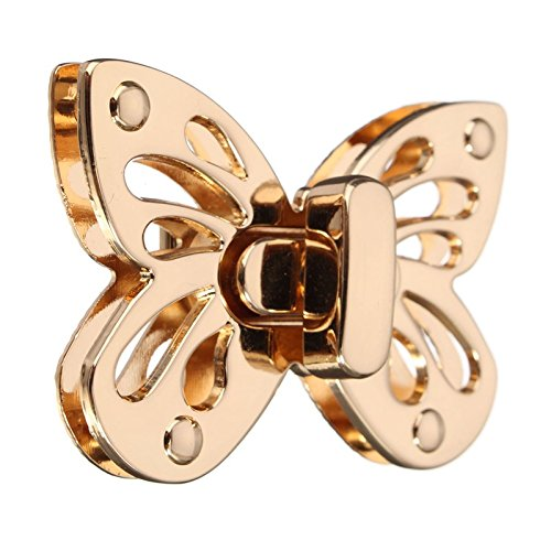 Butterfly Clasps/Buckles Twist Turn Lock - Light Golden