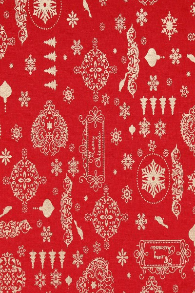 Red-festive-galore-metallic-foil-vintage-christmas-cotton