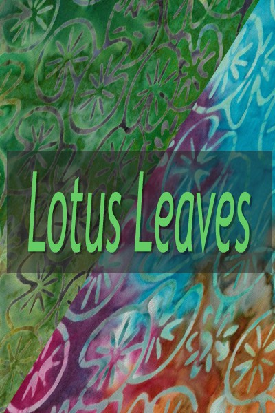 "Indonesian Bali Batik ""Lotus Leaves"""