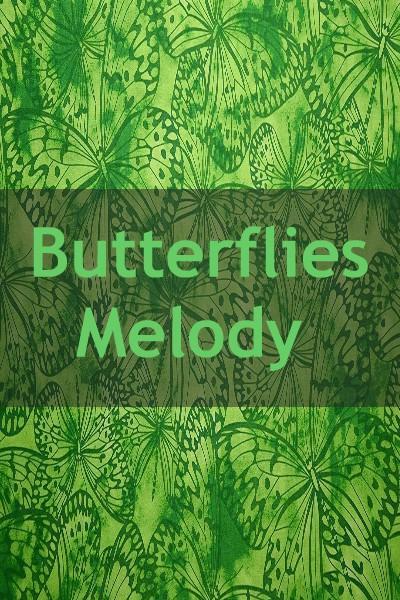 "Indonesian Bali Batik ""Butterflies Melody"""