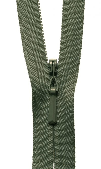 9-23cm-olive-green-invisible-concealed-zip