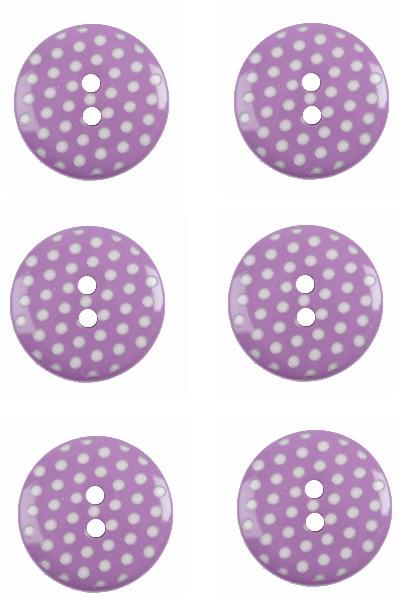 polka-dots-button-round-green-white-colour