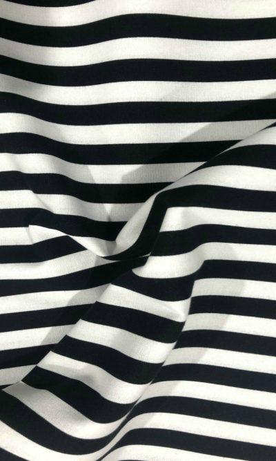 13mm-black-stripe-print-canvas-fabric-on-navy-blue-fabric