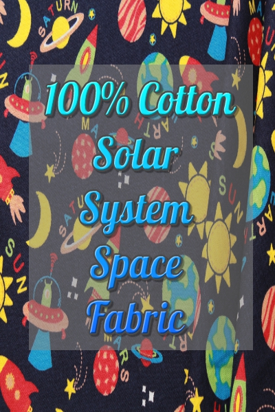 100% Cotton Quilting Fabric Solar system Space