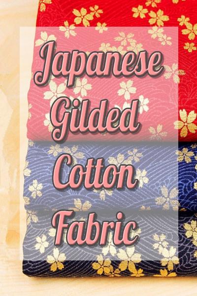 100% Cotton Japanese Gilded Fabric Multicoloured